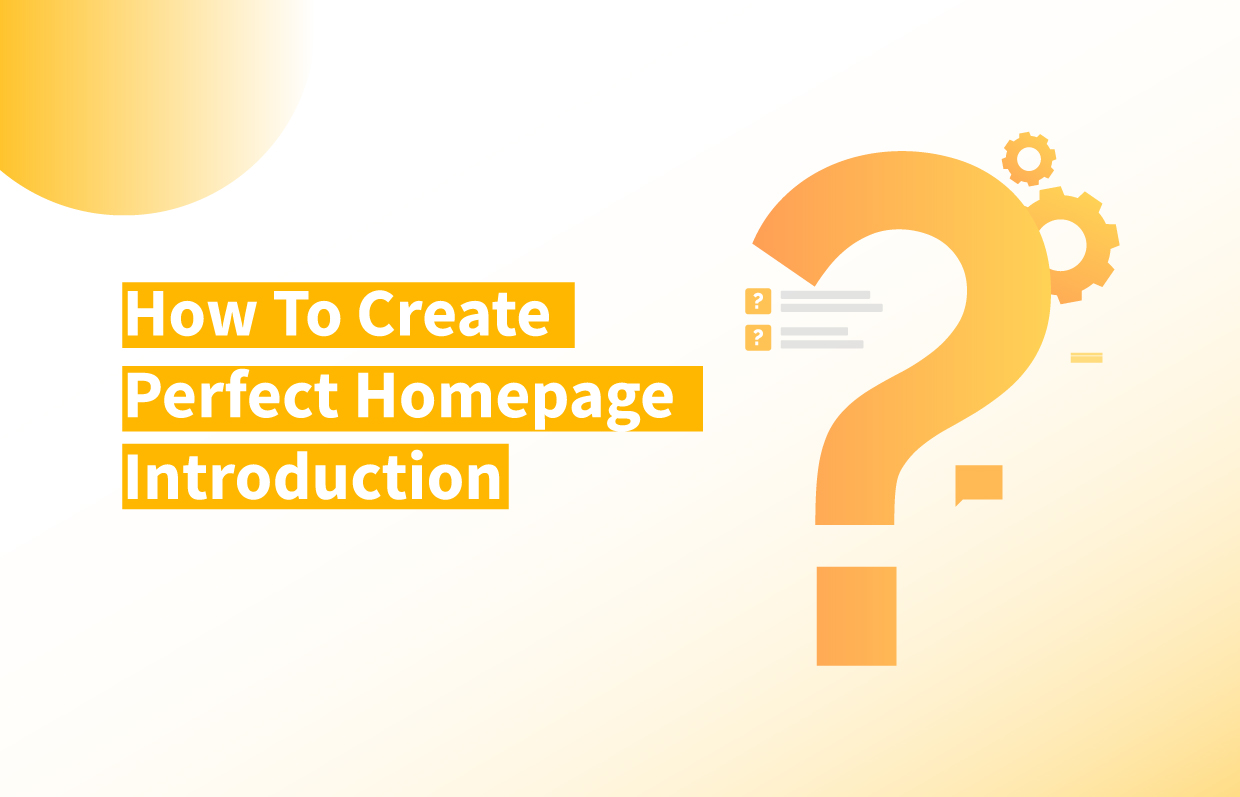 Title of How to Create Perfect Homepage Introduction